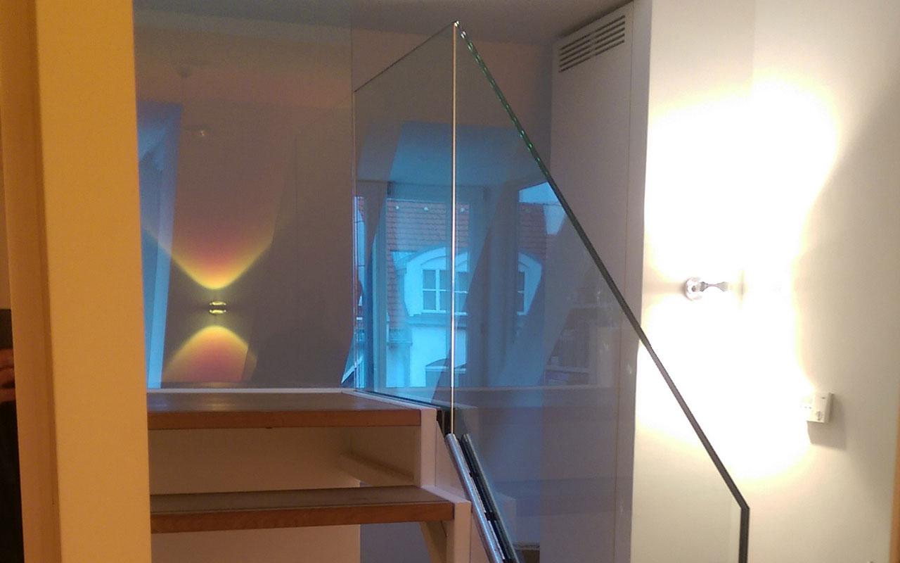 Treppenbrüstung aus Glas in München-Haidhausen