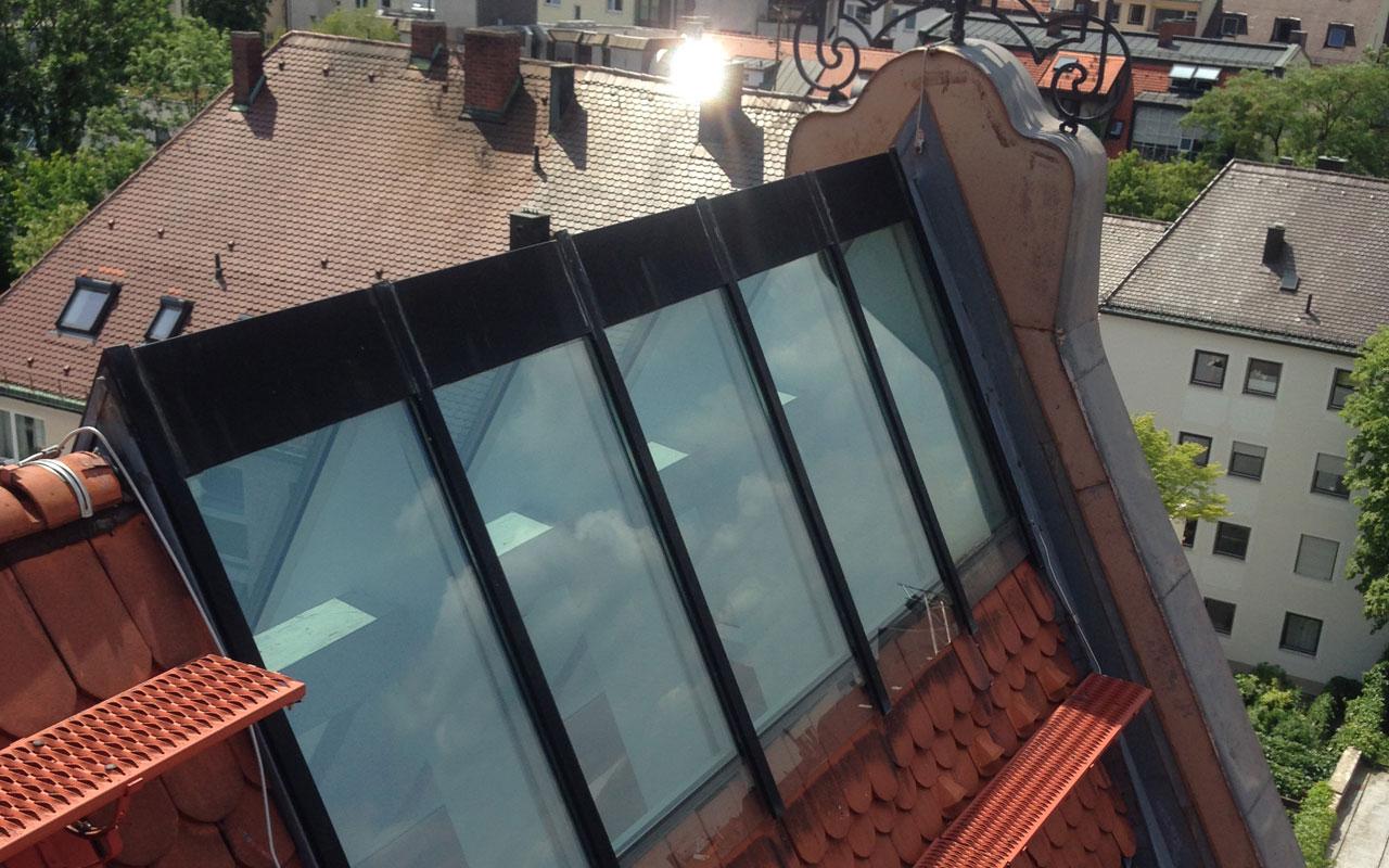Glasdachsarnierung München