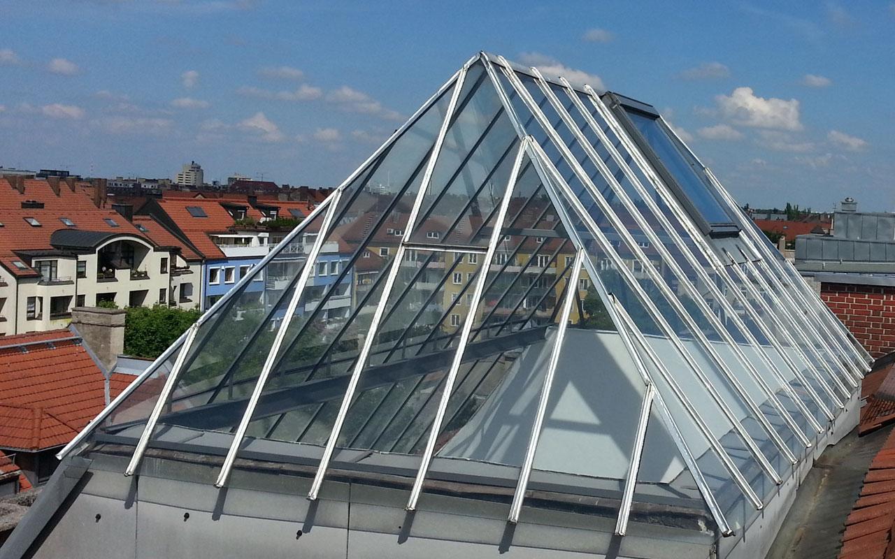 Glasdach in München